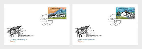 Village Views - Balzers - FDC Single Stamps - First Day Cover single stamp