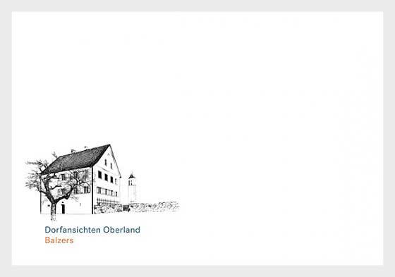 Village Views - Balzers - Envelope C6 - FDC without stamp