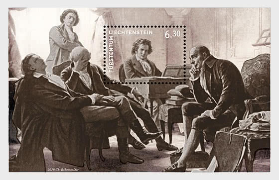 250th Birthday of Ludwig van Beethoven - Mint  - Miniature Sheet
