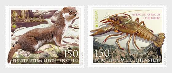 Europa 2021 - Endangered National Wildlife - Mint - Set