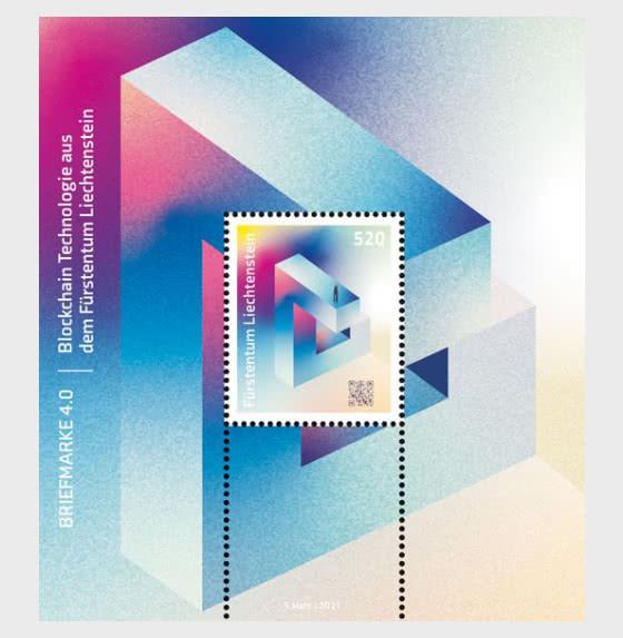 Blockchain Technology from the Principality of Liechtenstein - Miniature Sheet