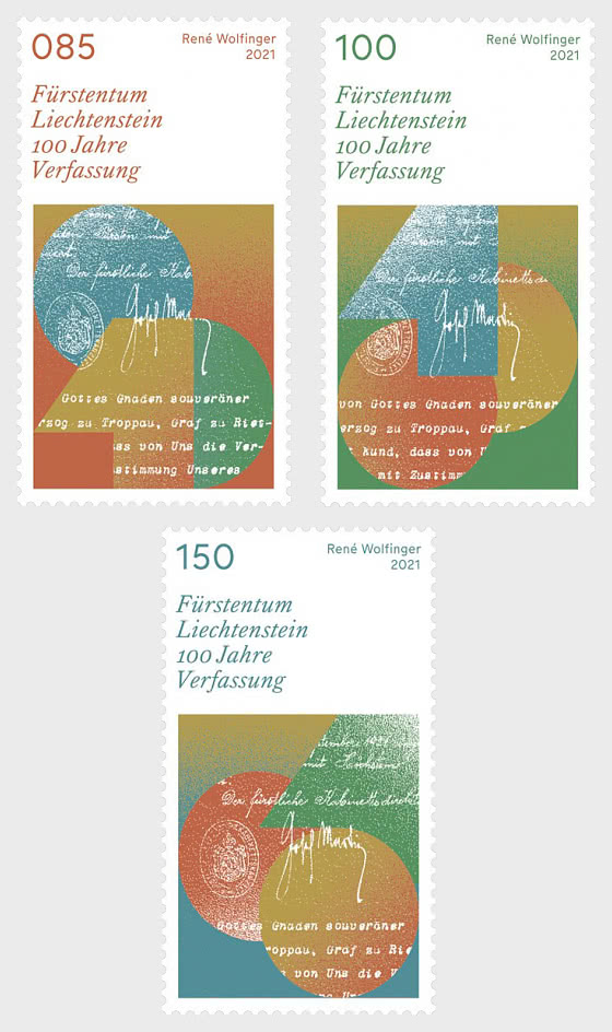 100 Years of the Constitution of the Principality of Liechtenstein (1921 – 2021) - Set