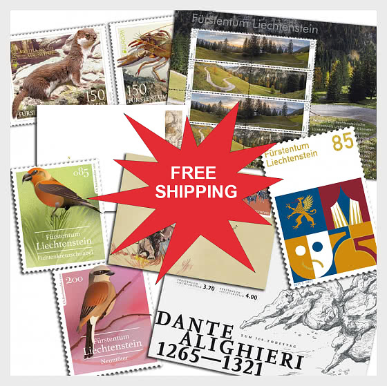 FREE SHIPPING on ALL Liechtenstein orders! - Collectibles