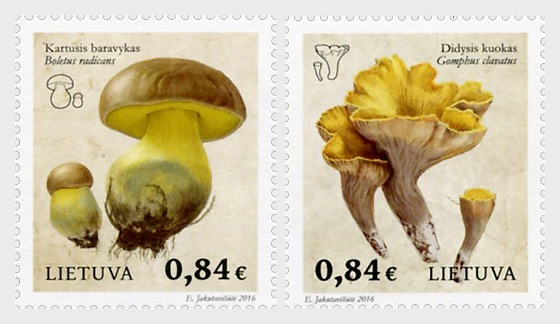 Red Book of Lithuania - Funghi - Set