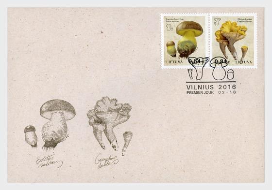 Libro Rojo de Lituania - Fungi - Sobre de Primer Dia