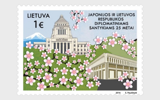 To Japan - Lithuania Diplomatic Relationships - 25 - Set