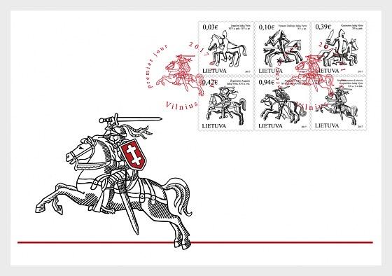 Vytis - Le Symbole de l'emblème de Lituanie - Enveloppes de Premier Jour