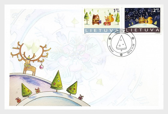 holy christmas and new year 2013 first day cover