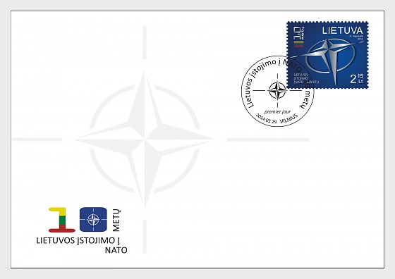 10th Anniversary of Lithuania's Accession to NATO - First Day Cover