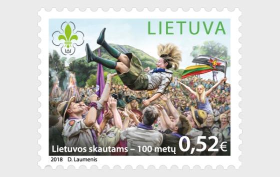 100. Jahrestags der Litauischen Pfadfinder - Serie