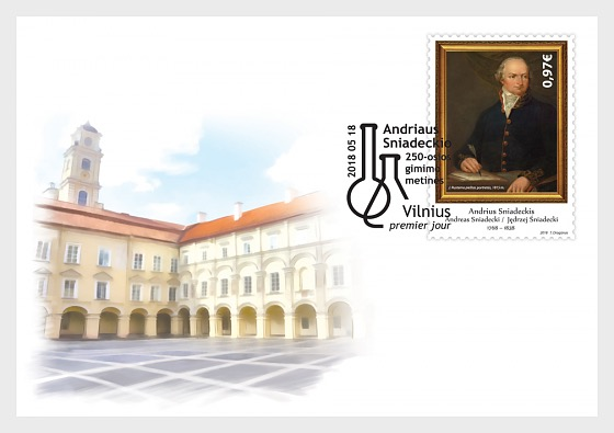 250th Anniversary of the Birth of Andrius Sniadeckis - First Day Cover