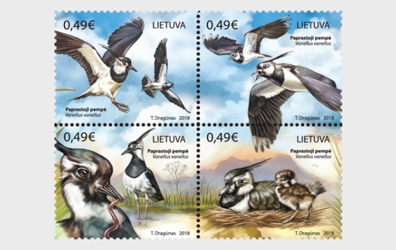 Lithuanian Animals, Northern Lapwings - Set