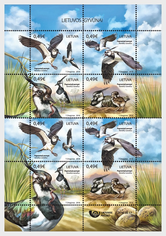 Lithuanian Animals, Northern Lapwings - Sheetlets