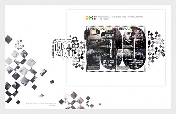 100th Anniversary of Modern Lithuanian Institutions - First Day Cover