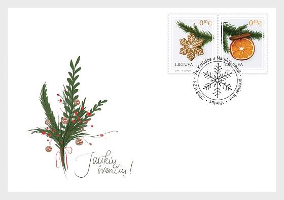 Noël et Nouvel An - Enveloppes de Premier Jour