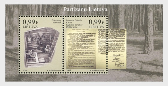 Partisans Lithuania - Miniature Sheet