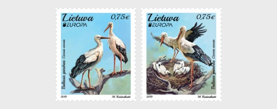 Europa 2019 - National Birds - Set