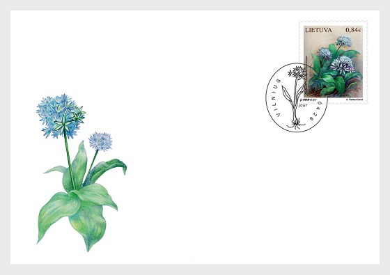 Lithuania Red Book, Plants (Allium Ursinum) - First Day Cover