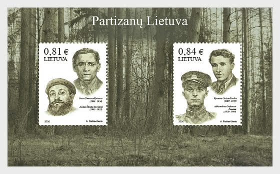 Partisans's Lithuania - Miniature Sheet
