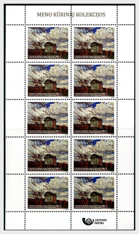 Art Collections - Sheet €1.98 Value - Sheetlets