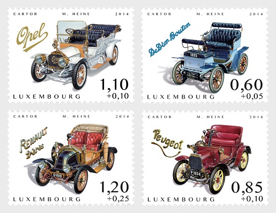 Charity Stamps (Cars of Yesteryears) - Set