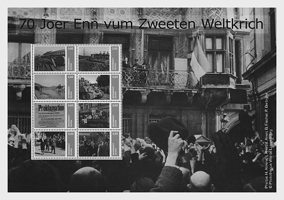 70th Anniversary End of WWII (Personalised Stamps) - Sheetlets