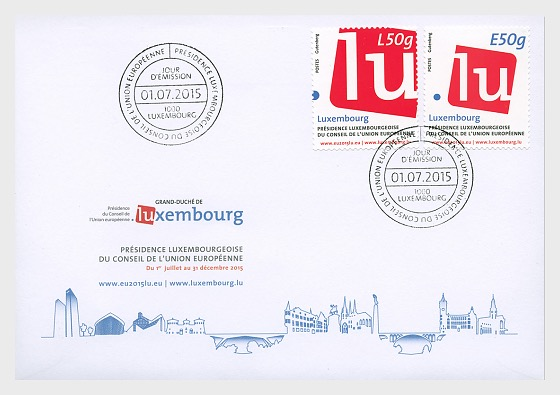 UN Presidency of Luxembourg - First Day Cover