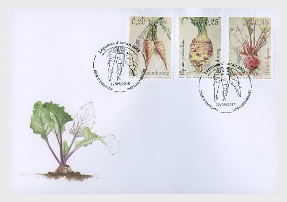 Vegetables of yesteryear 2015 - First Day Cover