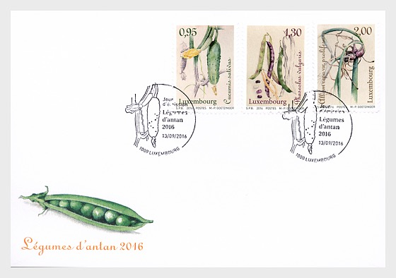 Vegetables of yesteryear 2016 - First Day Cover