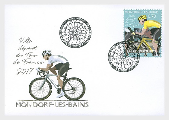 The 2017 Tour de France's starting stage in Mondorf-les-Bains - First Day Cover