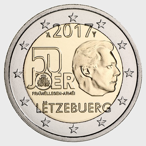 50th anniversary of the Volunteer Military of Luxembourg - Single Coin