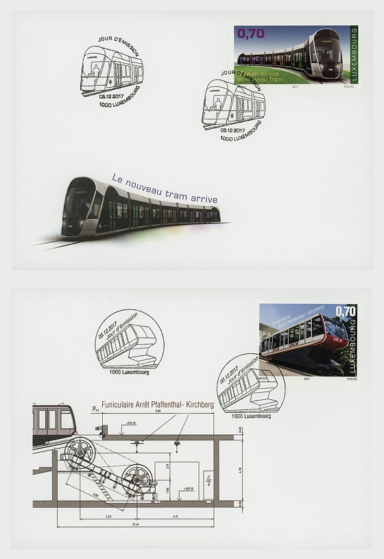 Inauguration of the Tramway and the Pfaffenthal-Kirchberg Funicular - First Day Cover