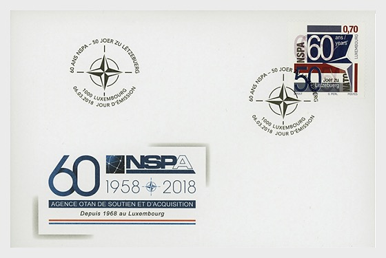 60th Anniversary of the NATO Support and Procurement Agency - First Day Cover