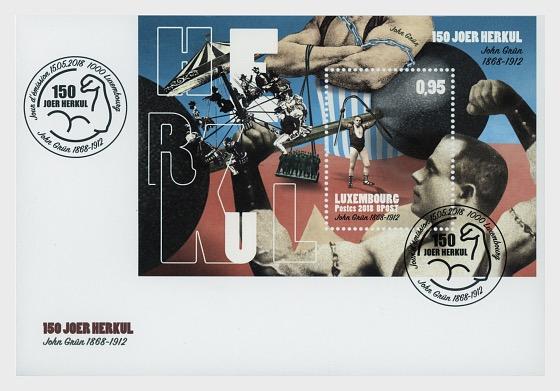 150th Anniversary John Herkul Grun - First Day Cover