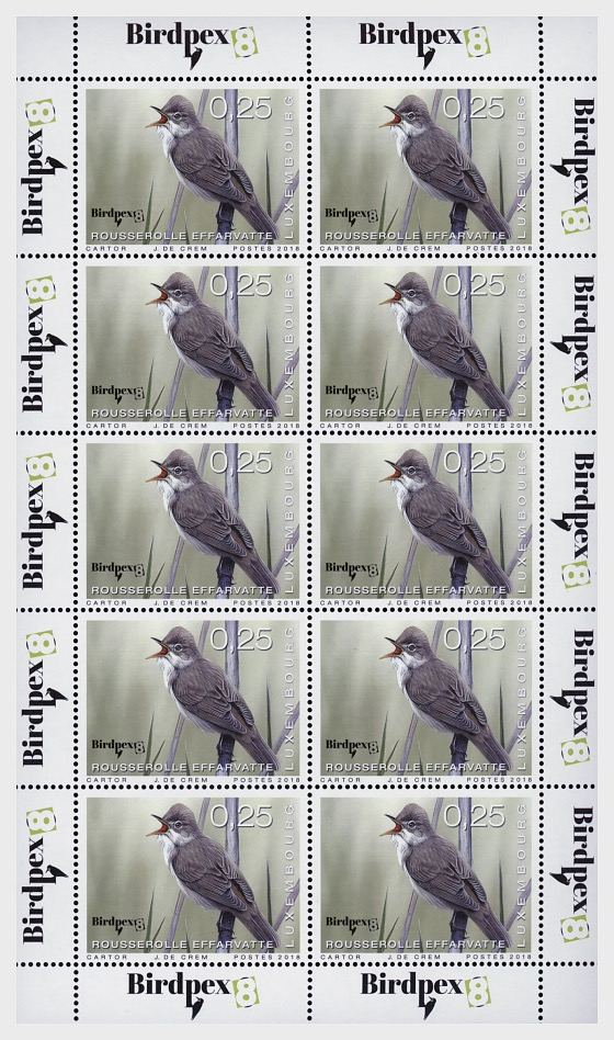 Rare Birds 2018 - (€0.25 Sheetlet) - Sheetlets
