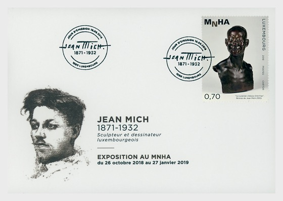 Exposición Jean Mich en la MNHA - First Day Cover
