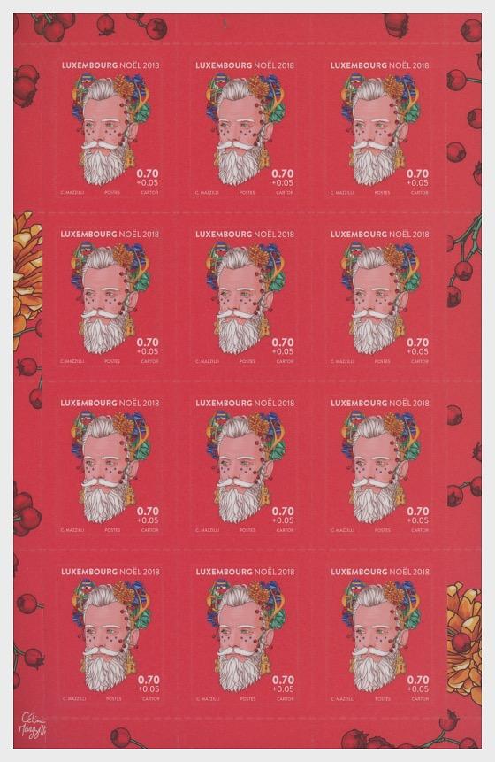 Christmas 2018 - Sheetlet Value €0.70 - Sheetlets
