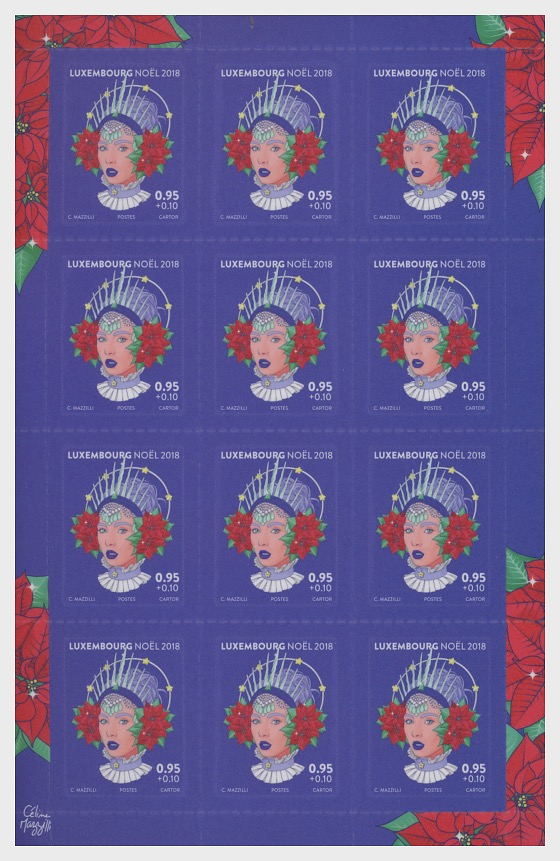 Christmas 2018 - Sheetlet Value €0.95 - Sheetlets