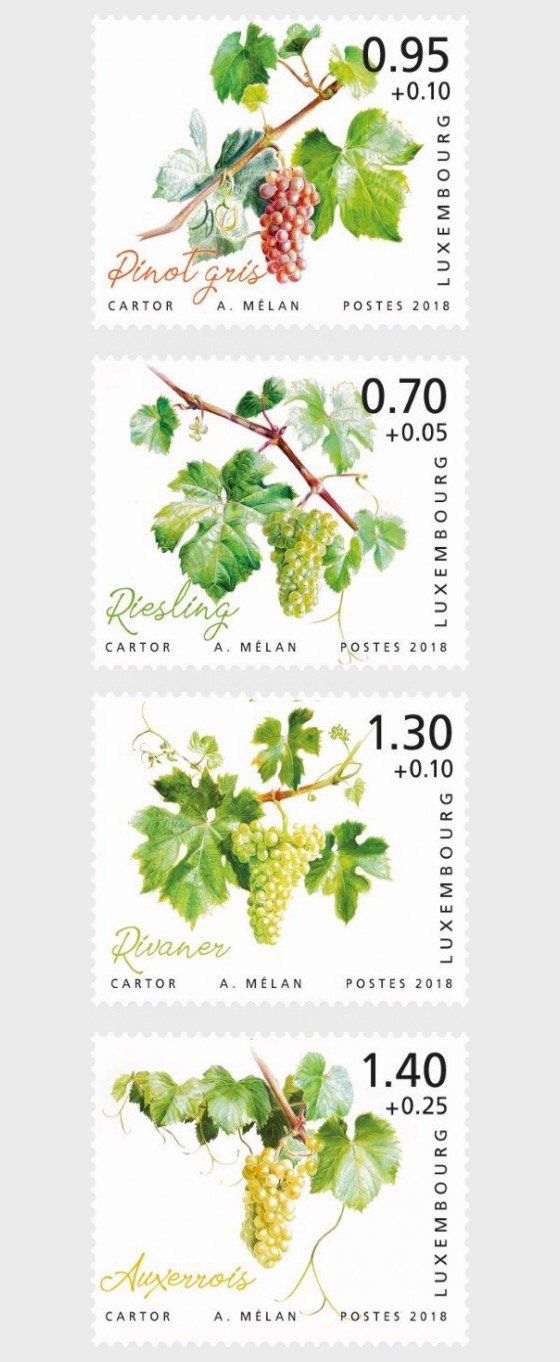 2018 Charity Stamps - The Luxembourg Moselle Region - Set