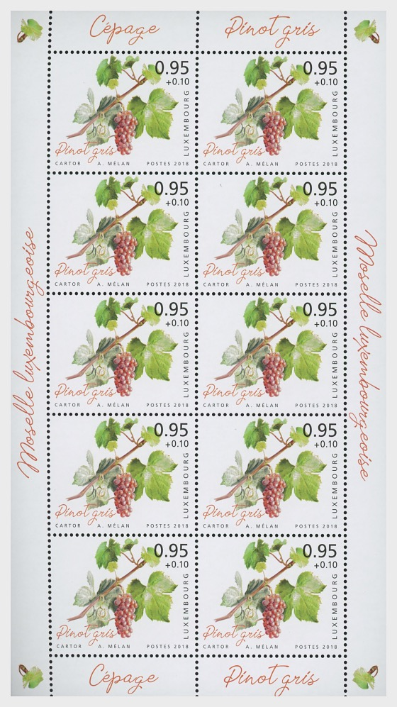 2018 Charity Stamps - The Luxembourg Moselle Region - Sheetlet Value €0.95 - Sheetlets