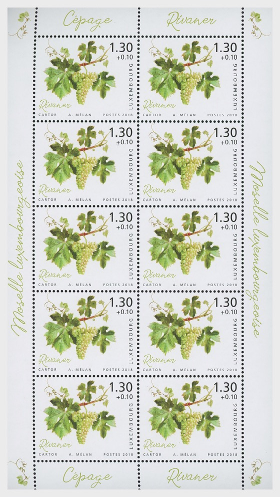 2018 Charity Stamps - The Luxembourg Moselle Region - Sheetlet Value €1.30 - Sheetlets