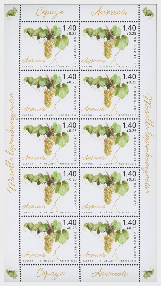 2018 Charity Stamps - The Luxembourg Moselle Region - Sheetlet Value €1.40 - Sheetlets