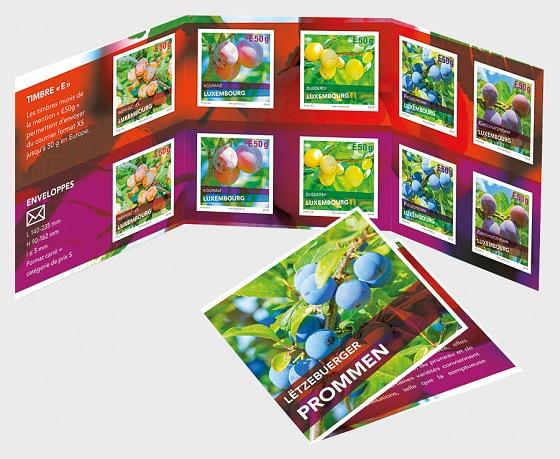 Plum Varieties in Luxembourg - Stamp Booklet