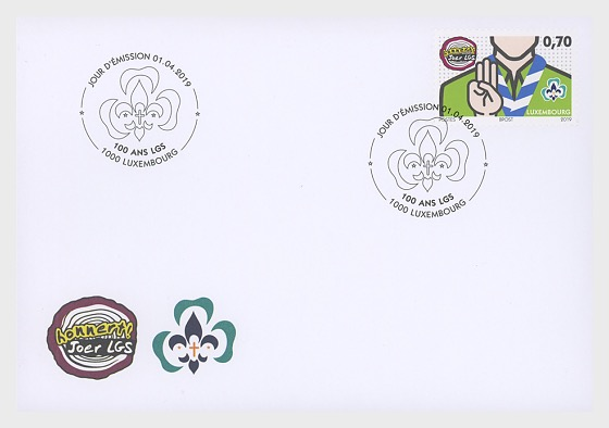 100 Years of 'Letzebuerger Guiden a Scouten' - First Day Cover