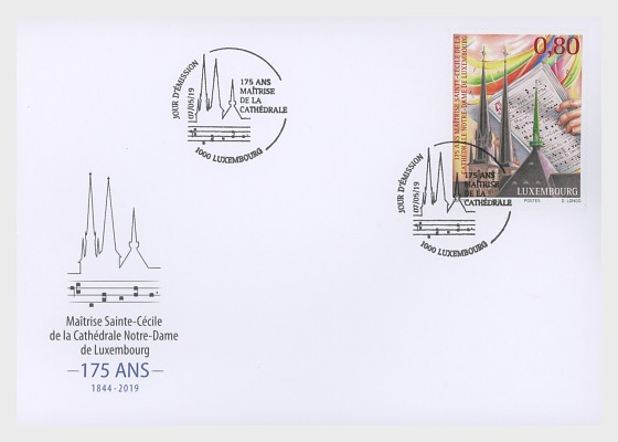 "The 175th Anniversary of the ""Maîtrise de la Cathédrale Notre-Dame"" - First Day Cover"