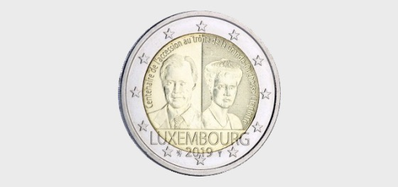 Centenary of the Accession to the Throne of the Grand Duchess Charlotte - Single Coin