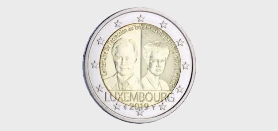 Centenario de la Ascension al trono de la Gran Duquesa Charlotte - Moneda individual