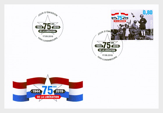 75 Years of Luxembourg's Liberation - First Day Cover