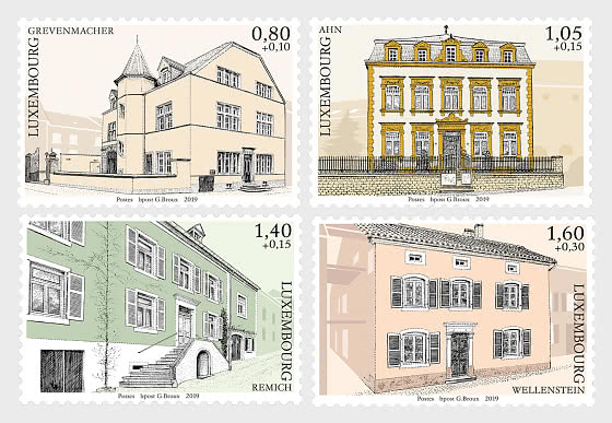 2019 Charity Stamps - The Luxembourg Moselle Region - Set