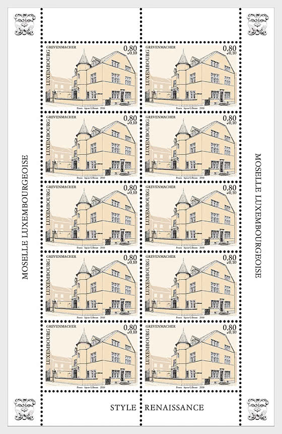 2019 Charity Stamps - The Luxembourg Moselle Region - Grevenmacher Sheetlet - Sheetlets
